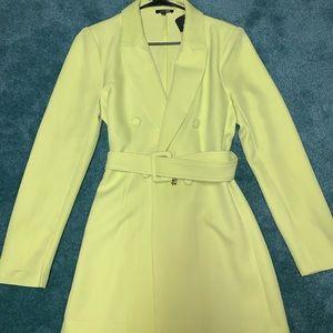 FASHION NOVA  lime green blazer dress(brand new)